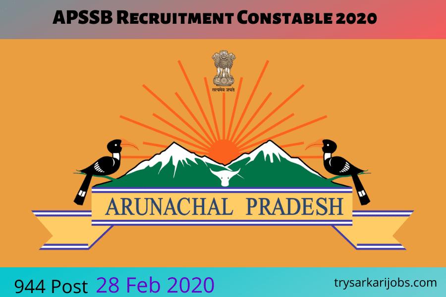 APSSB Recruitment Constable 2020