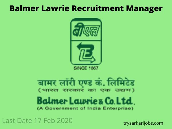Balmer Lawrie Recruitment Manager