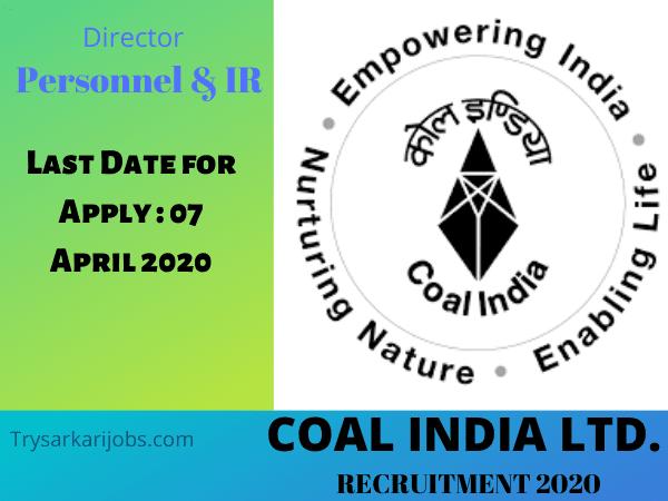 CoalIndiaLtd. Jobs Opening 2020