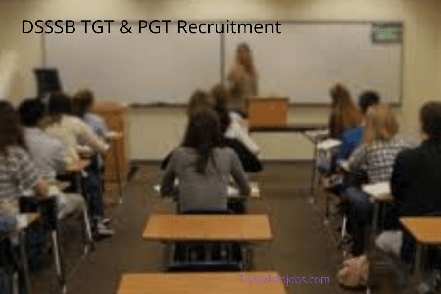 DSSSB TGT RECRUITMENT 2020
