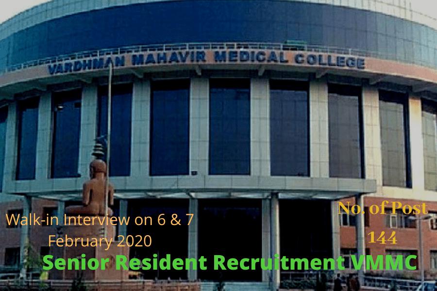 Senior Resident Recruitment VMMC