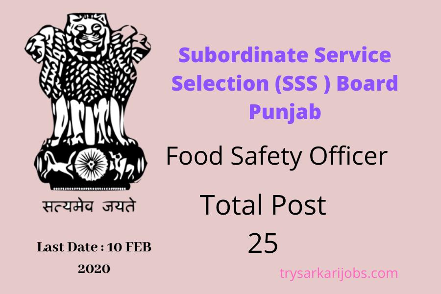SSSB Punjab FSO Jobs