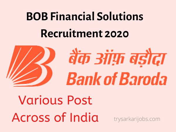 BOB Financial Solutions Recruitment