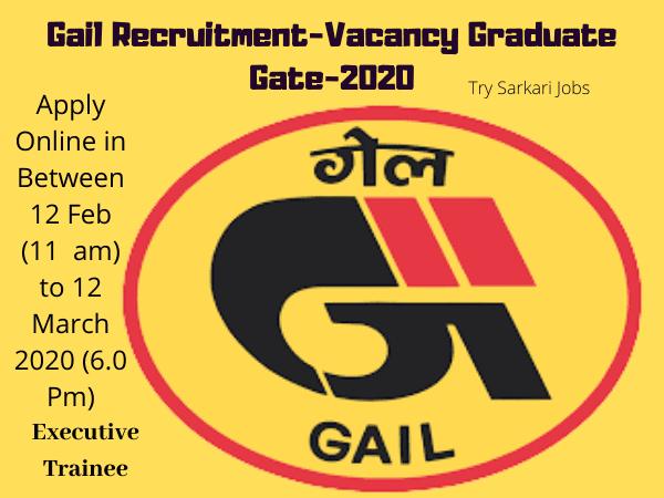 Gail Recruitment-Vacancy Graduate Gate