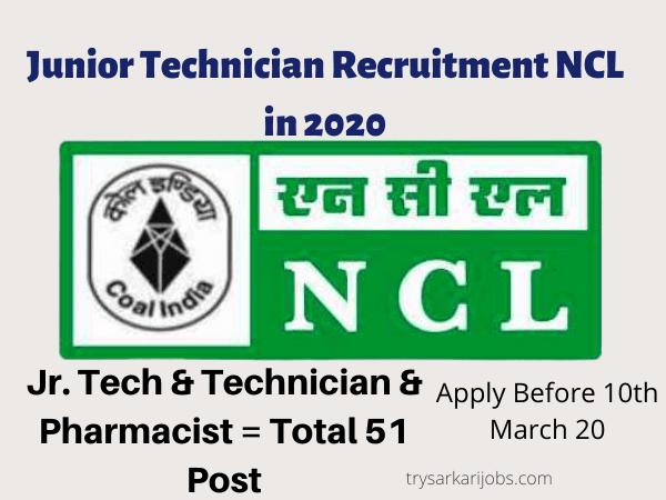 Junior Technician Recruitment NCL