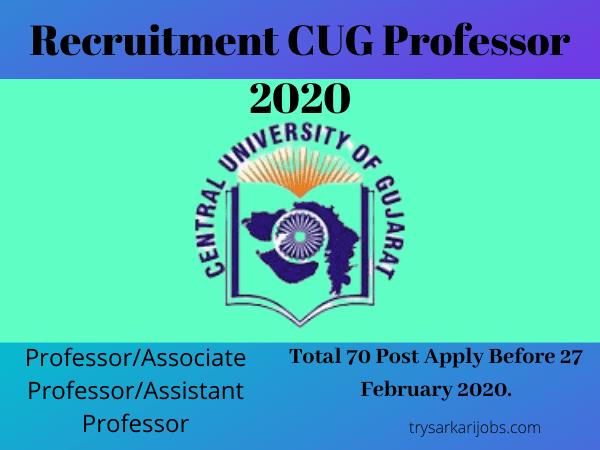 Recruitment CUG Professor 2020
