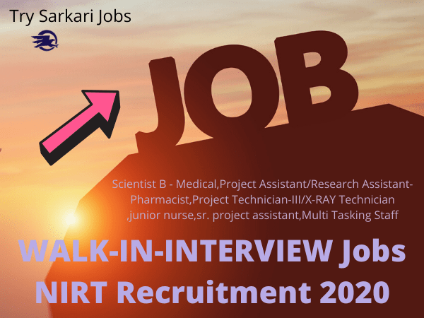 NIRT Research Assistant-Pharmacist Jobs