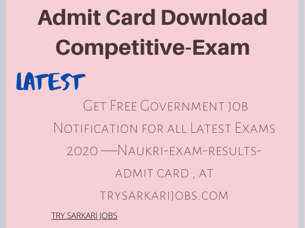 Admit Card Download Competitive-Exam