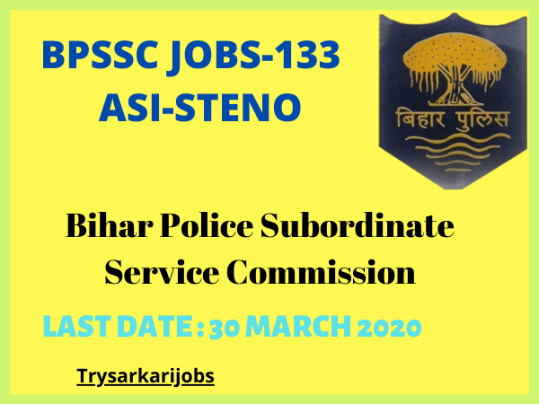 BPSSC JOBS-133 ASI-STENO