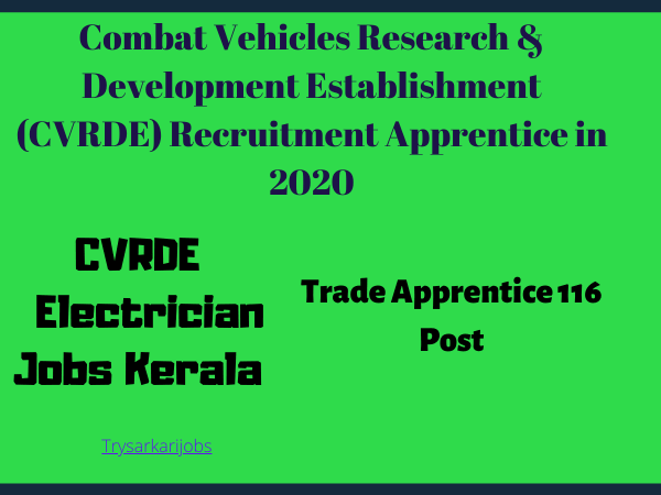CVRDE Electrician Jobs Kerala