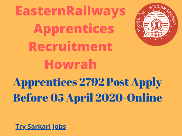 EasternRailways Apprentices Recruitment Howrah