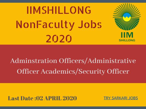 IIMSHILLONG NonFaculty Jobs 2020
