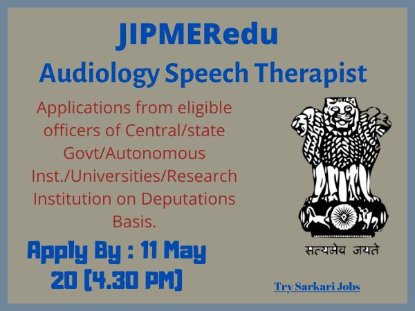 JIPMERedu Audiology Speech Therapist