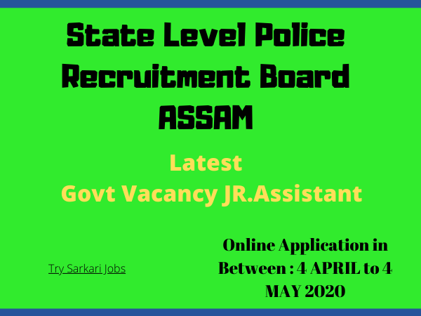 Latest Govt Vacancy JR.Assistant