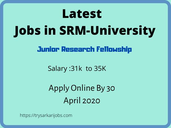 Latest Jobs in SRM-University