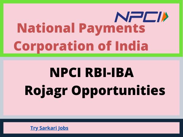 NPCI RBI-IBA Rojagr Opportunities