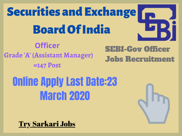 SEBI-Gov Officer Jobs Recruitment
