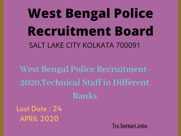 ConstableCrew Vacancy Bengal Police