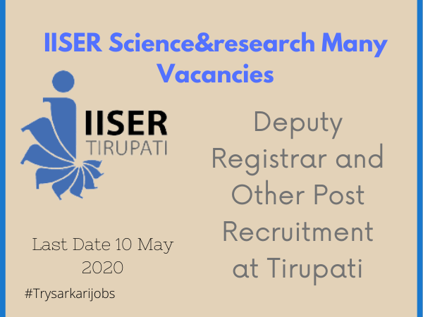 IISER Science& research Many Vacancies