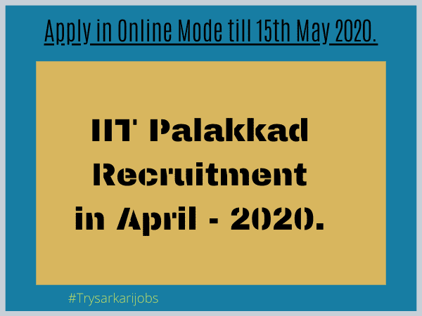 IIT PALAKKAD Assistant Registrar