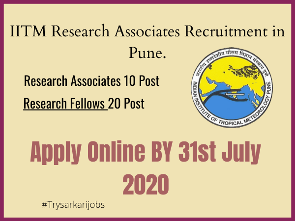 IITM Research Associates Recruitment
