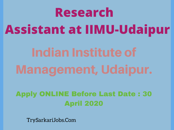 Research Assistant at IIMU