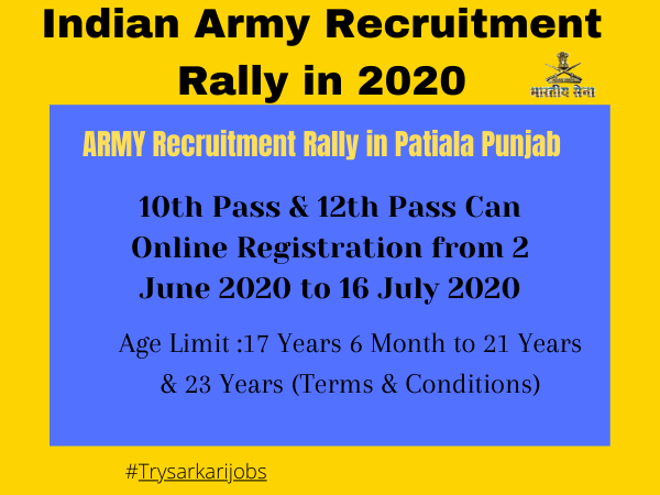 Indian Army Recruitment Rally in 2020