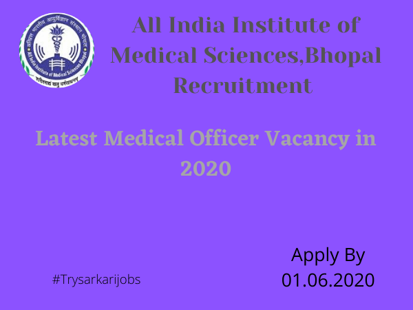 Latest Medical Officer Vacancy