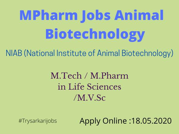 MPharm Jobs Animal Biotechnology