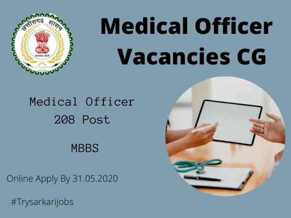 Medical Officer Vacancies CG