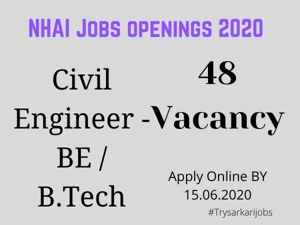 NHAI Jobs openings 2020