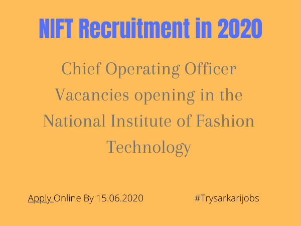 NIFT Recruitment in 2020