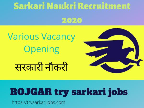 MANNU Recruitment in 2020
