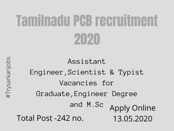 Tamilnadu PCB recruitment 2020