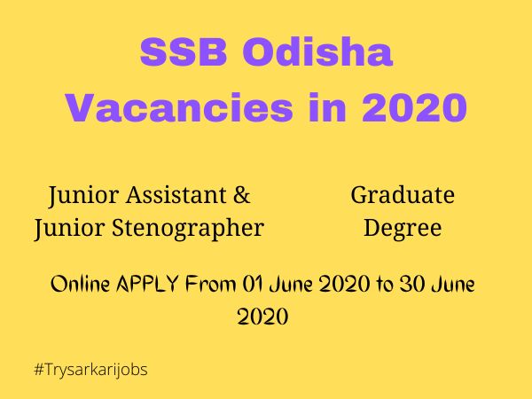 Odisha Govt Jobs of this week