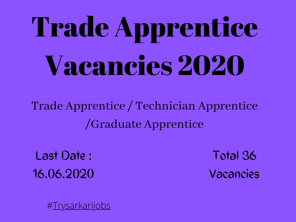 Trade Apprentice Vacancies 2020