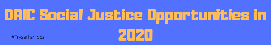 DAIC Social Justice Opportunities