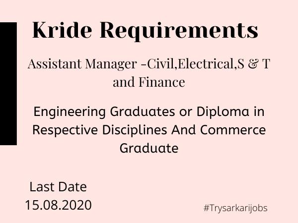 Kride Requirements