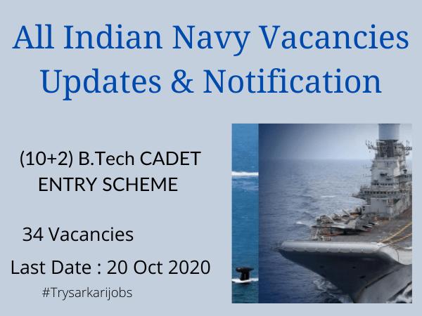 All Indian Navy Vacancies