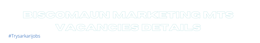 Biscomaun Marketing MTS Vacancies