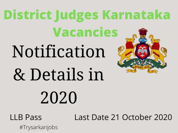 District Judges Karnataka Vacancies