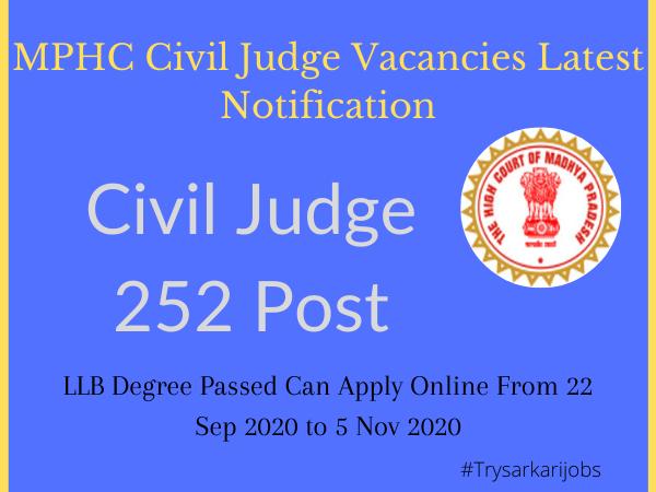 MPHC Civil Judge Vacancies