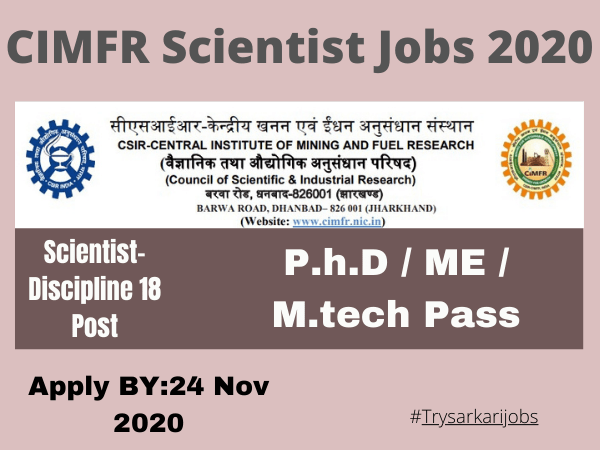 CIMFR Scientist Jobs 2020