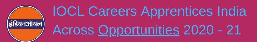 IOCL Careers Apprentices India
