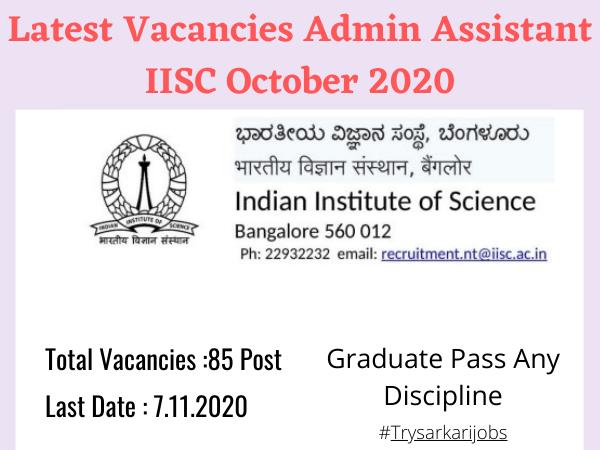 Latest Vacancies Admin Assistant