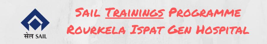 Sail Trainings Programme Rourkela