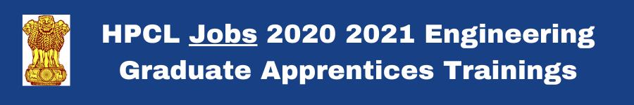 HPCL Jobs 2020 2021