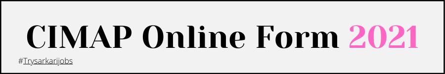 CIMAP Online Form 2021