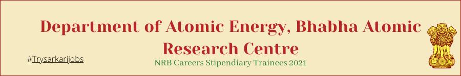 NRB Careers Stipendiary Trainees 2021