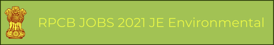 RPCB JOBS 2021 JE Environmental